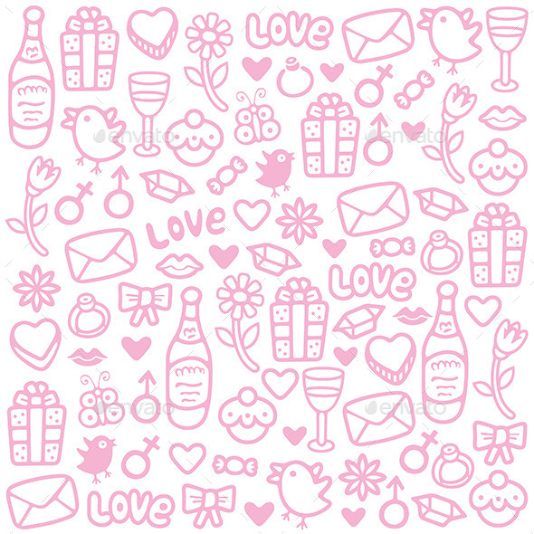 GraphicRiver Love Pattern 9850931
