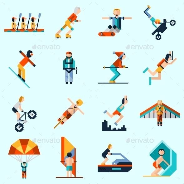 GraphicRiver Extreme Sports Icons 9850945