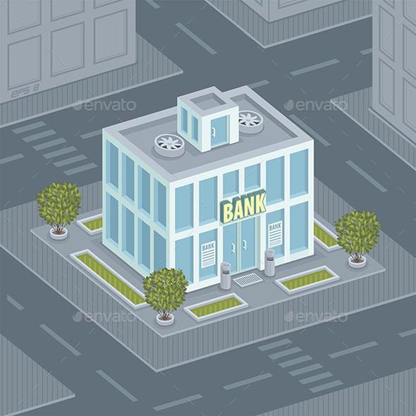 GraphicRiver Facade Bank 9850975