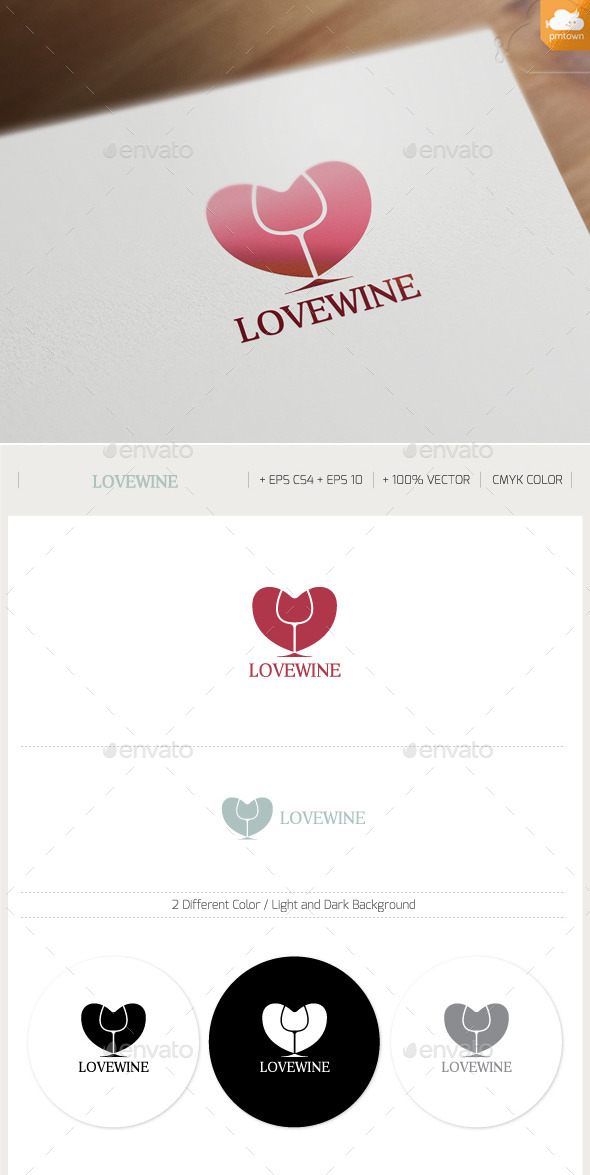 GraphicRiver Love Wine 9851005
