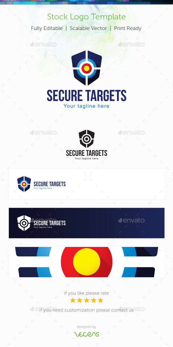 GraphicRiver Secure Targets Stock Logo Template 9851034
