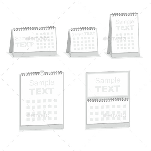 GraphicRiver Blank Calendar Isolated on White 9851083