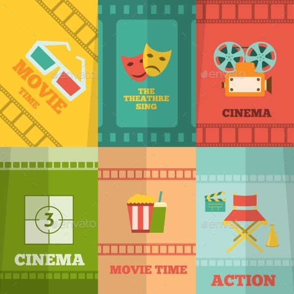 GraphicRiver Cinema Icons Composition Poster Print 9852011