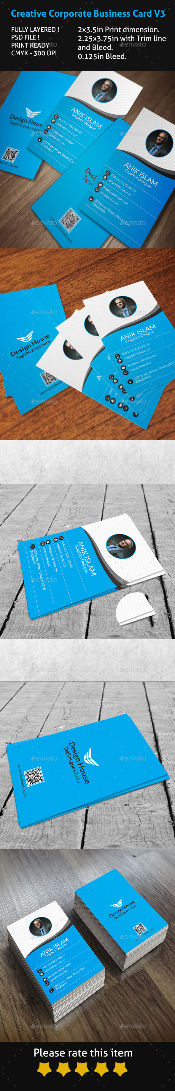 GraphicRiver Creative Corporate Business Card V3 9852271