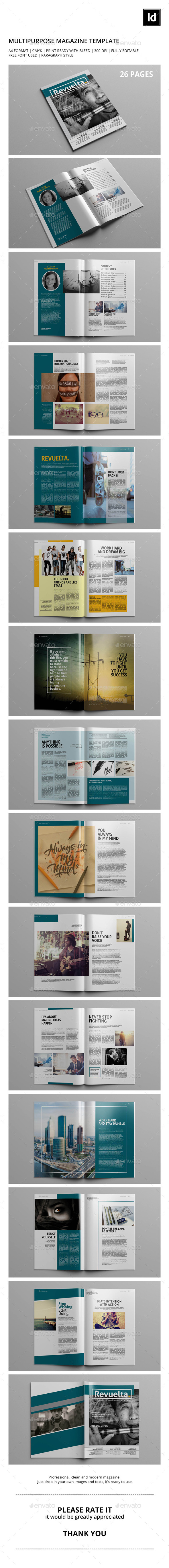 GraphicRiver Revuelta Magazine Template 9852304