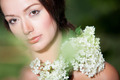 Girl with hortensia on her shoulder - PhotoDune Item for Sale