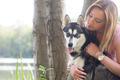 Girl loves her dog - PhotoDune Item for Sale