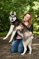 Bond girl and her husky - PhotoDune Item for Sale