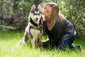 Girl and her husky - PhotoDune Item for Sale