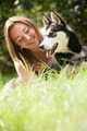 smile with her dog - PhotoDune Item for Sale