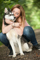 Hugging with her dog - PhotoDune Item for Sale