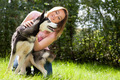Girl and her husky - PhotoDune Item for Sale