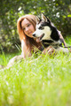 portrait of dog and owner - PhotoDune Item for Sale