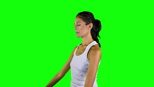 Yoga Teacher Green Screen