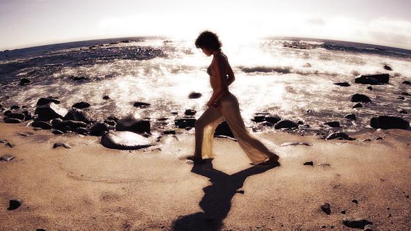 Yoga Teacher Practive Stunning Beach Sunrise