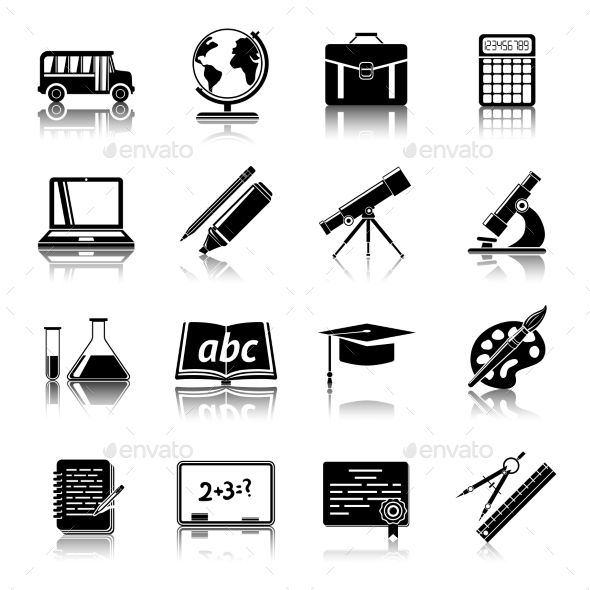GraphicRiver Education Icons Set 9852506