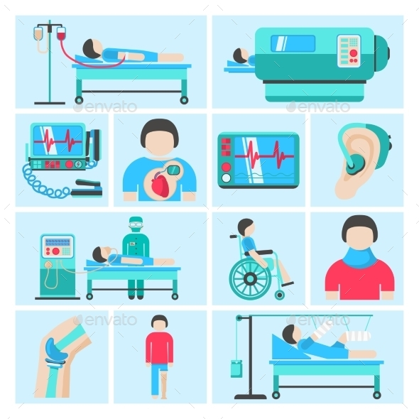 GraphicRiver Life Support Medical Equipment Icons 9852512