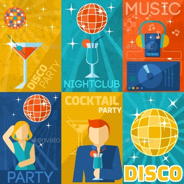 GraphicRiver Night Club Poster Set 9852605