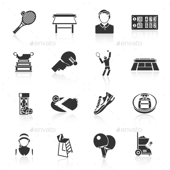 GraphicRiver Tennis Icons 9852638