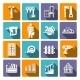 Carpentry Icons Set - GraphicRiver Item for Sale