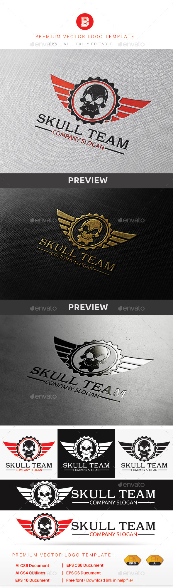 GraphicRiver Skull Team 9852739
