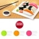 Sushi and Bamboo Mat - GraphicRiver Item for Sale