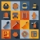 Firefighter Icons Flat - GraphicRiver Item for Sale