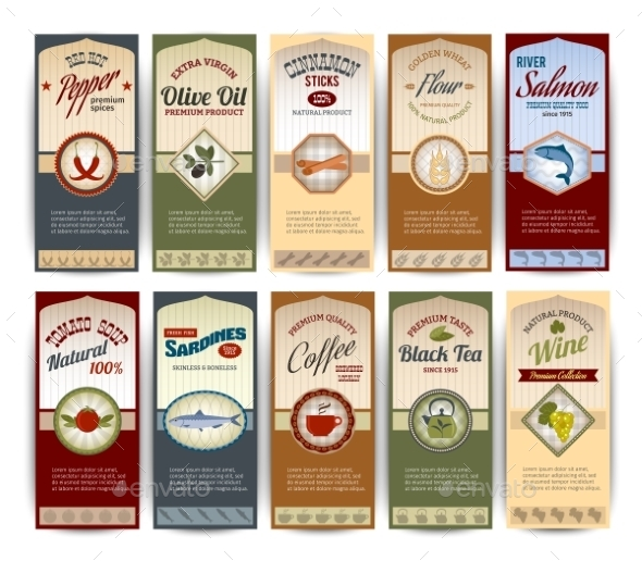 GraphicRiver Food Retro Banners 9852757