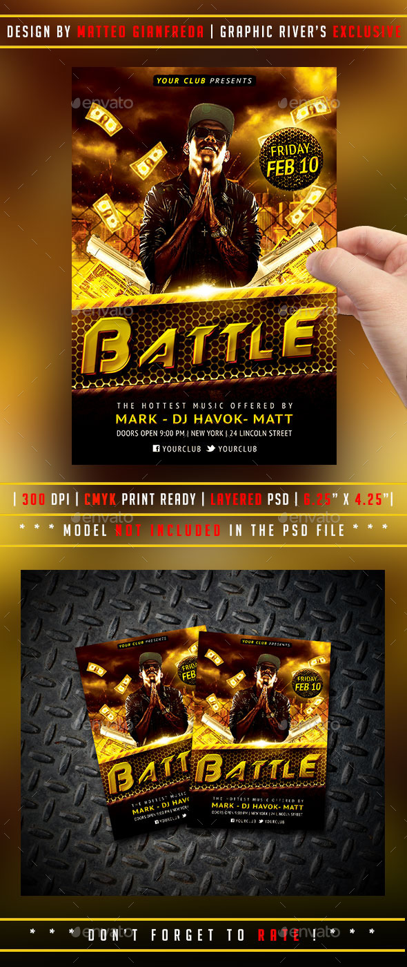 GraphicRiver Rap Flyer 9797965