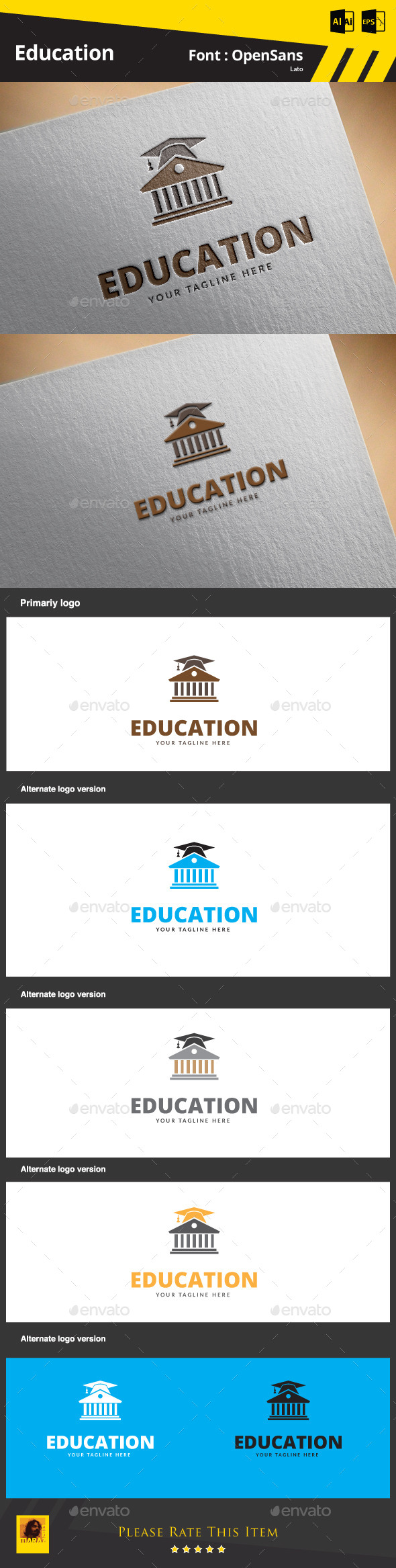 GraphicRiver Education Logo Template 9852919