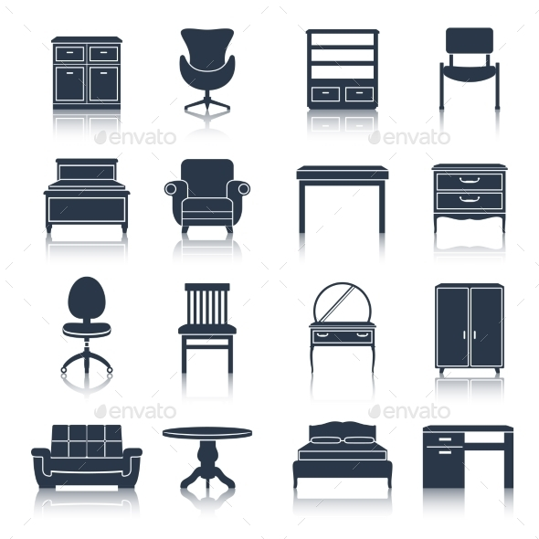 GraphicRiver Furniture Icons 9852968