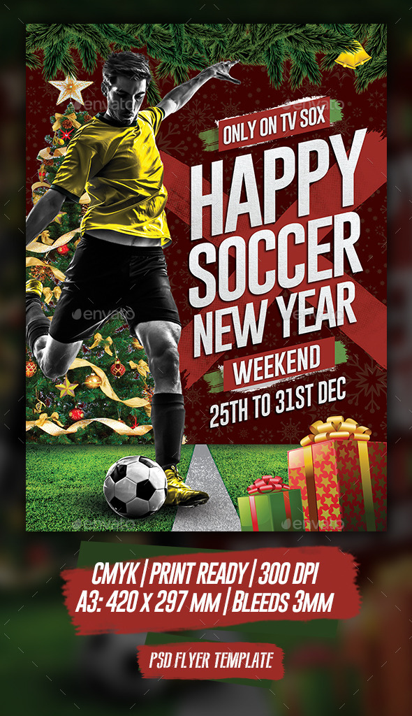 GraphicRiver Happy Soccer New Year 9853785