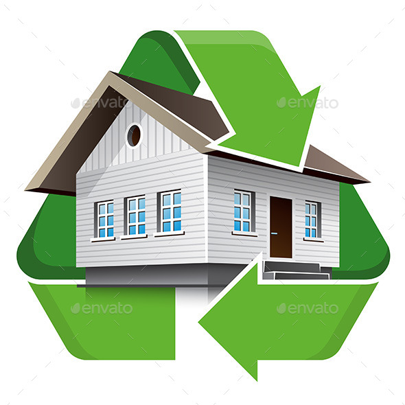 GraphicRiver House Recycling Symbol 9853816