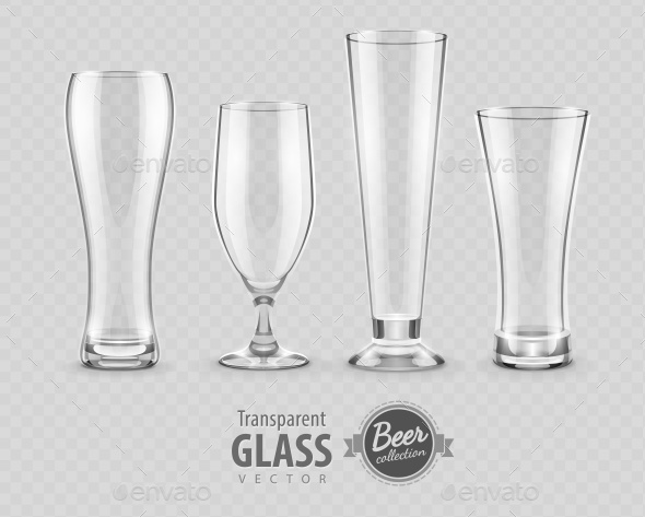 GraphicRiver Glasses for Beer Drinking in Pub Empty Set 9853896