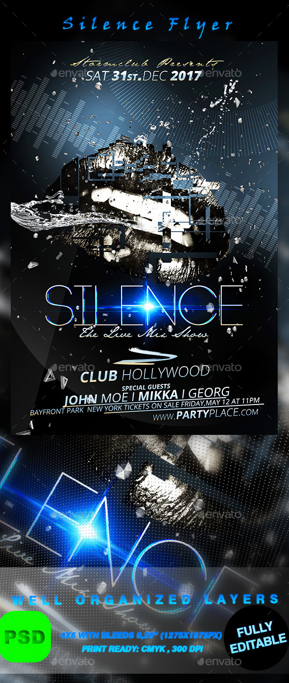 GraphicRiver Silence Flyer 9853945