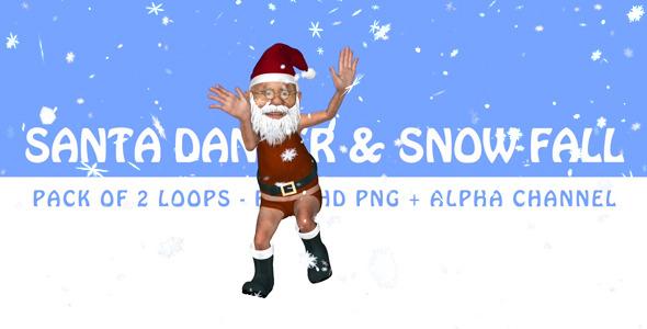 Santa Dancer & Snow Fall Pack of 2