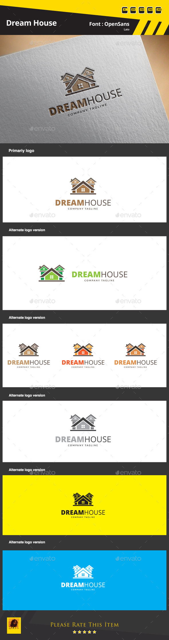 GraphicRiver Dream House Logo Template 9854162