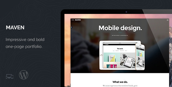 ThemeForest Maven Responsive Portfolio WordPress Theme 9854357