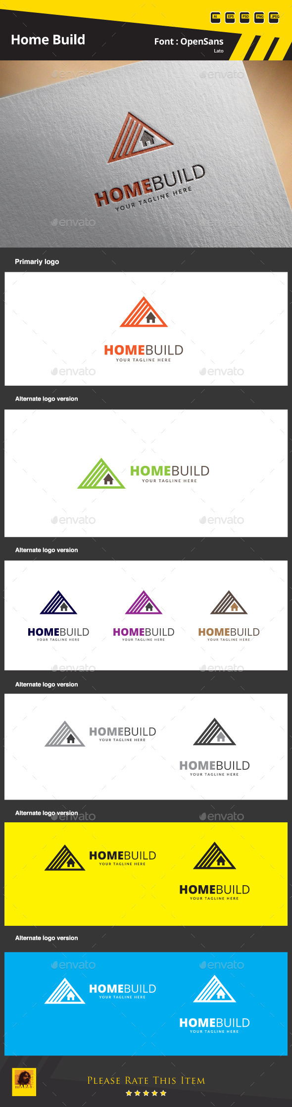 GraphicRiver Home Build Logo Template 9854401