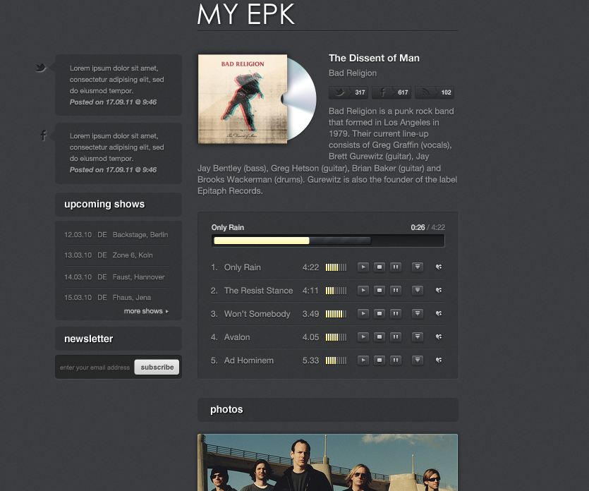 My electronic press kit by therealthing themeforest for Digital press kit template free