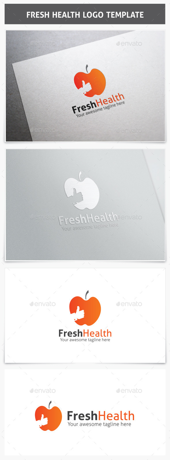 GraphicRiver Fresh Health Logo 9854463