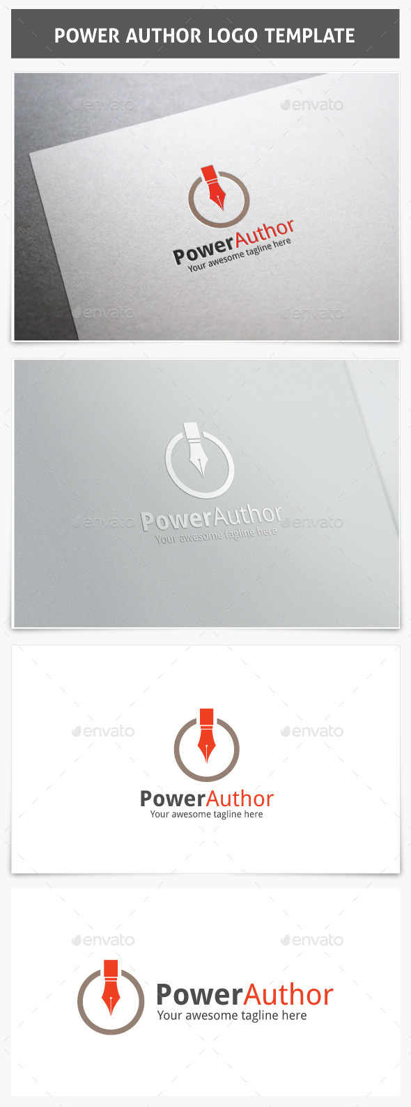 GraphicRiver Power Author Logo 9854482