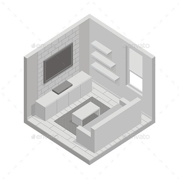 GraphicRiver Living Room 9854488