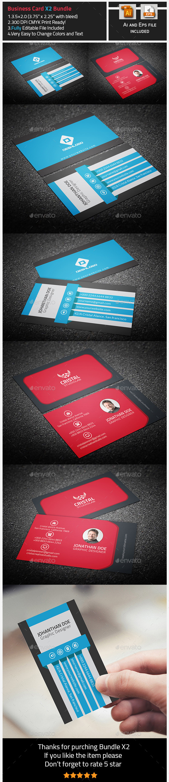 GraphicRiver Business Card Bundle-X2 9854496