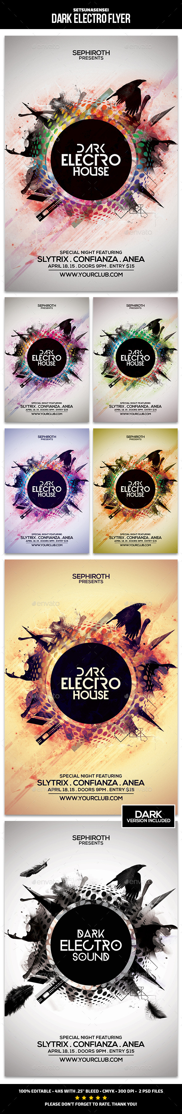 GraphicRiver Dark Electro Flyer 9822419