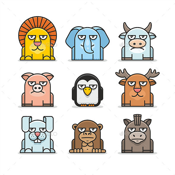 GraphicRiver Animals Set 9854555