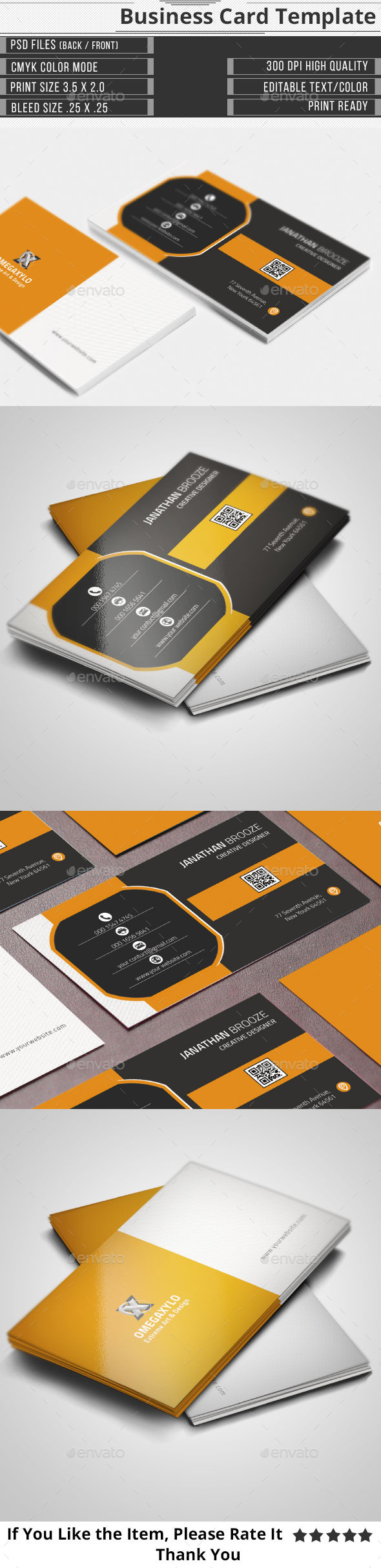 GraphicRiver Creative Corporate Business Card 9854556
