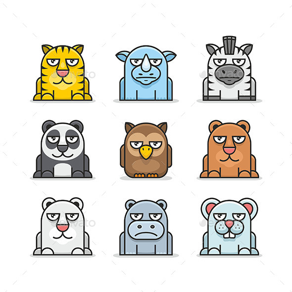 GraphicRiver Animals Set 9854561