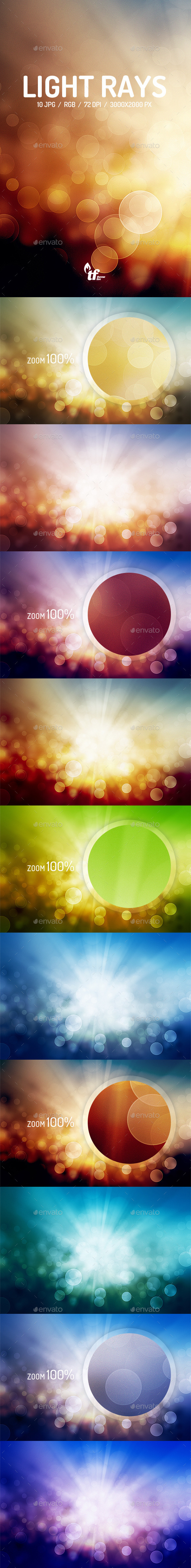 GraphicRiver Light Rays Backgrounds 9854589