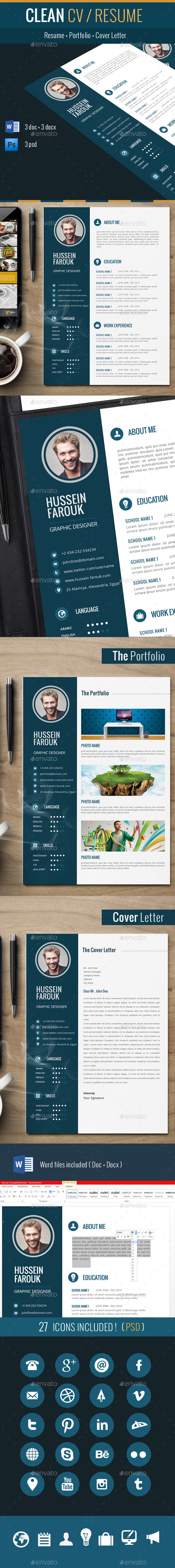 GraphicRiver Clean Cv Resume 9854616